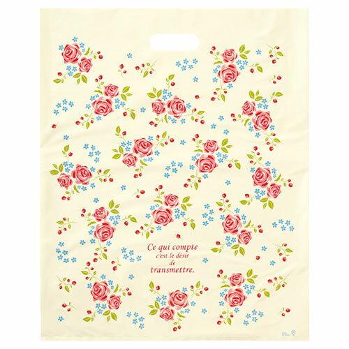 ローズガーデン ポリバッグ 40×50 500枚【店舗備品 包装紙 ラッピング 袋 ディスプレー店舗】