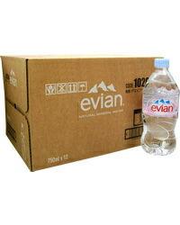 エビアン750ml12本入ミネラルウォーター正規輸入品ケース売り