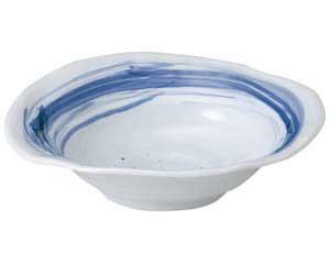 和食器 ア250-027 青空楕円大鉢