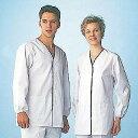 女性用デザイン白衣 長袖 FA-348LL メイチョー