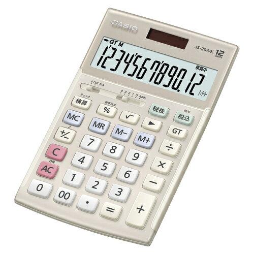 【まとめ買い10個セット品】電卓 JS-20WK-GD ゴールド 1台 カシオ【開業プロ】