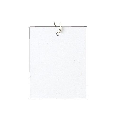 パック再生紙下札糸付4×51cmホワイト500枚販促用品ディスプレーポップ値札ショーカードプライスカ