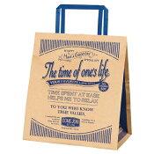 アメリカンヴィンテージ 手提げ紙袋 22×14×25 50枚【店舗備品 包装紙 ラッピング 袋 ディスプレー店舗】