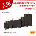 カラー手提げ紙袋 ブラウン 21×12×25 50枚【開業プロ】