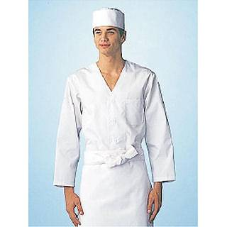 【 業務用 】男性用調理衣 長袖 FA-320 M