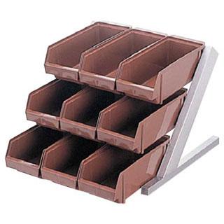 【まとめ買い10個セット品】【 業務用 】オーガナイザー3段3列 ENDO ブラウン ENDO