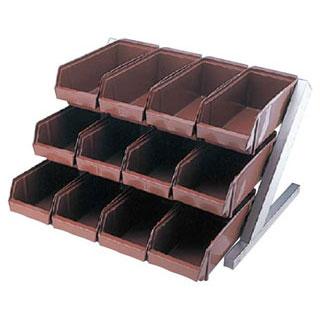 【まとめ買い10個セット品】【 業務用 】オーガナイザー3段4列 ENDO ブラウン ENDO