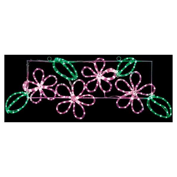 【まとめ買い10個セット品】 LEDチューブライト フラワーモチーフ1台 【桜 サクラ さくら 春 飾り イルミネーション イベント 装飾】 【厨房館】