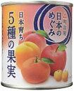 MY日本のめぐみ果実缶詰 日本育ち 5種の果実 215g