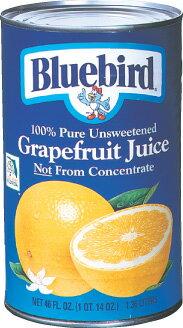 ブルーバードジュース グレープフルーツ(ホワイト) 1.36 L×12缶 宅サイズ140