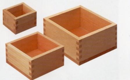 【国産品/ポイント5倍/国産ひのき】  木製マス(1升) 木工職人の手作り 安心商品
