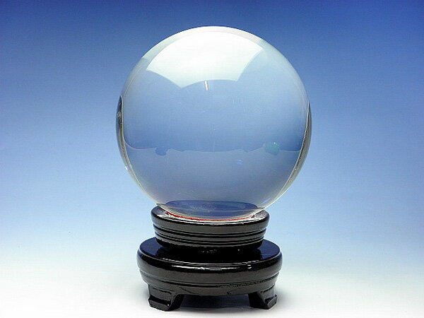 【送料無料】溶解 水晶玉 台座付き直径15センチ15cm 150mm 溶錬水晶玉