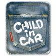 【マグネット】ヴィンテージデニム風 CHILD IN CAR チャイルドインカー マグネットステッカー/kids in car/kids on board/baby in car 車 子供が乗っています ジュニアシート に!おしゃれでかわいい 【メール便送料無料】