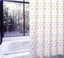 シャワーカーテン バスカーテン カーテン ビニール 風呂 ふろ 防カビ カビ 防水 バスカーテン(シャワーカーテン) S-305 (ブルー) 130cm巾x178cm丈