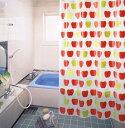 ビニールカーテン コロナシールド シャワーカーテン バスカーテン カーテン ビニール 風呂 ふろ 防カビ カビ 防水 バスカーテン(シャワーカーテン) RBC-01 (レッド) 120cm巾x178cm丈