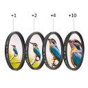 【送料無料】 光学ガラスマクロ クローズアップ 1 2 4 10レンズフィルター キット58mm キヤノン/ニコン/ソニーのカメラ用