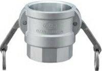 小澤物産 レバーカップリング OZ-D-AL-11/2 (40A) メスネジ型カプラー アルミニウム 【当商品のご購入は別途送料1,728円が必ず掛かります】