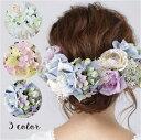 ローズ,かすみ草のヘッドドレス8点SET/全3色 ブルー・ピンク・ホワイト[fc216]紫陽花・ラナンキュラス