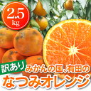 なつみオレンジ【2箱で送料無料】訳有りなつみオレンジ2.5kg(1箱のみの場合はご注文後送料を追加したメールが届きます) 送料無料(北海道・沖縄・一部離島+500円)