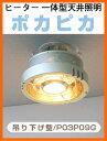 【吊下式】パアグ:ヒーター一体型天井照明/P03P09G