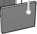 三菱電機部品:ダストフィルター/SVPR-109FT加湿器用