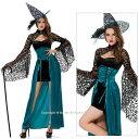 [3点セット]帽子・ワンピース・ビスチェ一体型スカート ☆氷の魔女[gs1041] 【送料無料】セクシー コスプレ衣装♪ハロウィン・パーティー・ダンス衣装にも♪