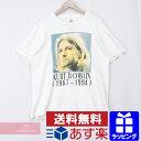 Kurt Cobain Print Tee カート・コバーン 追悼Tシャツ バンT ニルヴァーナ ヴィンテージ 古着 ホワイト サイズXL【200610】【中古-B】