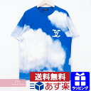 LOUIS VUITTON 2020AW Cloud Print Tee 1A89U4 ルイヴィトン クラウドプリントTシャツ 半袖カットソー 総柄プリント ブルー×ホワイト サイズL【201017】【中古-A】【me04】【HW】