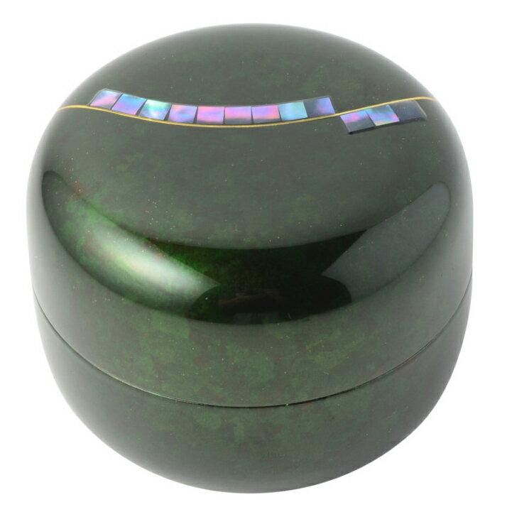 【ミニ骨壷】【手元供養】桜木現代蒔絵の本漆骨壷 「こころシリーズ」奏(かなで)エメラルドグリーン