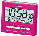 It is most suitable for a CASIO( Casio Computer) [table clock] petit gift! Pink DQD-660J-4JF