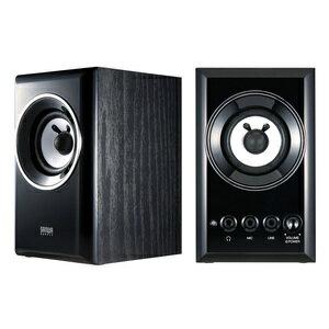 Sanwa wooden two-channel multimedia speakers MM-SPWD2BKN