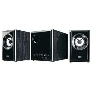 Sanwa supply wood 2.1 multimedia speakers MM-SPWD3BKN