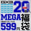 送料無料!200個限定・GX3 MEGA袋(20枚入り)