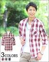 【送料無料】メンズ シャツ カジュアルシャツ チェックシャツ ボーダーシャツ 七分袖 七分 春 春服
