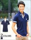 ポロシャツ メンズ カジュアルシャツ シャツ 半袖 鹿の子シャツ ドットシャツ 春 夏