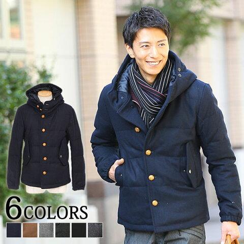 【送料無料】ダウン メンズ ダウンジャケット ダウンコート 中綿ジャケット 軽量 アウター メルトンコート