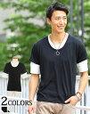 tシャツ メンズ カットソー カジュアルシャツ 5分袖 カジュアル メンズファッション