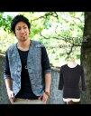 カットソー cutsewn メンズスタイル ボーダー Tシャツ 袖裏ボーダーデザイン7分袖カットソー(メンズ ファッション カジュアル キレイめ きれいめ お兄系 かっこいい シャツ トップス きれいめ 七分袖 春 春服 七分袖 30代 40代 服 黒 カジュアルシャツ ブラック 春物)
