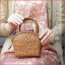 山葡萄 ミニ かごバッグ 半月口 網代編み 小 送料無料( 浴衣 やまぶどう 山ぶどう か