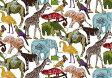LIBERTYリバティプリント・つや消しラミネート(ビニールコーティング生地)<Queue for the Zoo>(キューフォーザズー)MATLAMI3634160-14C