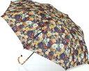 ショッピング日傘 LIBERTYリバティプリントを使った晴雨兼用折り畳み傘パラソル(日傘)<Broodsworth>(ブロッズワース)BRブラウン 970543