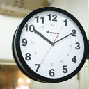 RoomClip商品情報 - DULTON/ダルトン ダブルフェイス ウォールクロック アイボリー ブラック シルバー 時計 両面時計 掛け時計 両面 ウォールクロック BONOX ボノックス 壁掛け時計 おしゃれ かわいい 大きい 大型 業務用 見やすい アナログ カフェ S82429