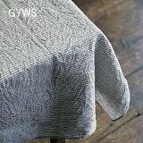 【】fog linen work|フォグリネンワーク リネンテーブルクロス|L130x180|グレーホワイトストライプ
