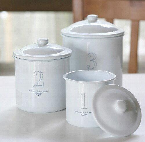 アクシス ナンバーキャニスターセット ホーロー保存容器|キッチン用品|食器|調理器具|琺瑯…...:merci-p:10011174