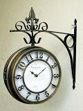 【】オールドストリートボスサイドクロックL[ゴールド|ブラウン|ホワイト]壁掛け時計