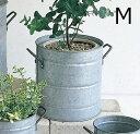 ノルマンディ ラウンドポット Mサイズ 鉢カバー ブリキポット 鉢 ブリキ鉢 植木鉢 ブリキポット プランター ガーデニング雑貨 アンティーク 鉢カバー おしゃれ かわいい