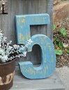 アンティーク風 ナンバー2〜9 L インテリア ガーデン オブジェ 置物 数字 アイアン
