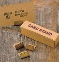 ブラス 真鍮カードスタンド Horn Please 志成販売 306085