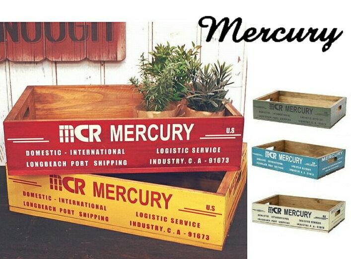 1,000円OFFクーポン配布中 mercury マーキュリー リサイクルウッドクレート イエロー カーキ レッド ブルー ホワイト 小物整理 木箱 収納 ボックス BOX ウッドボックス スタッキング可能 おしゃれ かわいい インテリア雑貨【あす楽対応】