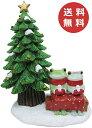 コポー クリスマス ガーデン ツリーの前のカップル Copeau 動物 x 039 mas 雑貨 置物 小物 オブジェ カエル 蛙 フロッグ FROG かわいい 【送料無料】 71625【あす楽対応】